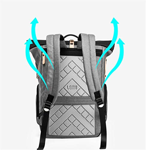 Large Cloth 15 Oxford Laptop Multi Backpack inch Function 6 Gray Travel pqyaqrYw0B