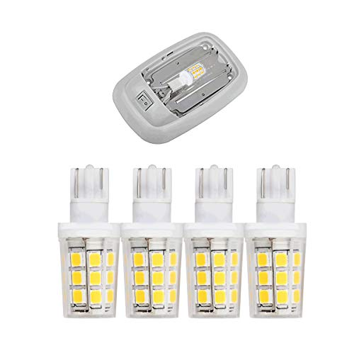 (921 912 168 194 W16W T5 T10 wedge 3W 400lm 12V-24V led dome light bulb for RV camper trailer Boat Marine Yacht interior led lights bulbs Warmwhite 3000K Clear cover 4-Pack)