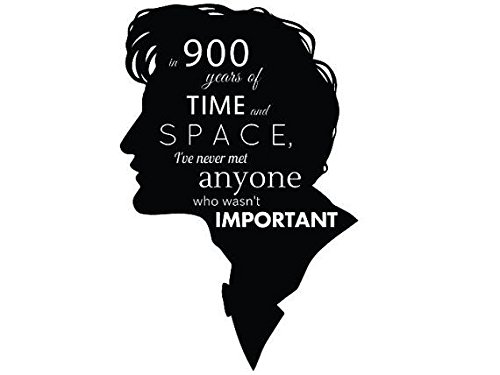 Boston Deals USA Doctor Who Face Quote Decal Sticker Car Home Laptop Dye-Cut