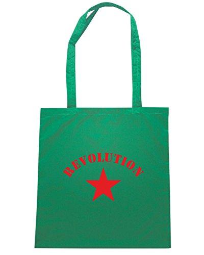 T-Shirtshock - Bolsa para la compra T0041 REOLUTION GUERRILLA comunismo politica Verde