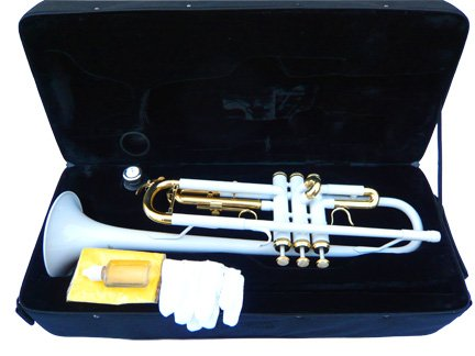 New White Concert Band Trumpet w/case-Approved+Warranty