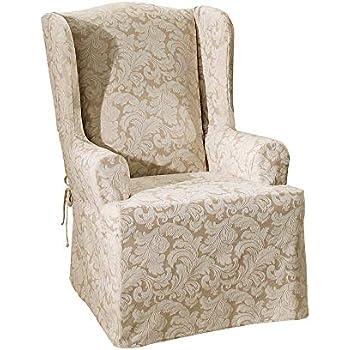 Amazon Com Surefit Scroll Wing Chair Slipcover