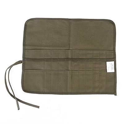 BESTOYARD Art Painting Brush Roll-up Case Bag Holder Pouch (Green) by BESTOYARD