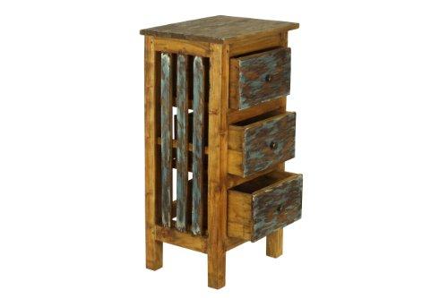 Antique Revival Distressed Lyon 3-Drawer Cabinet - Amazon.com: Antique Revival Distressed Lyon 3-Drawer Cabinet