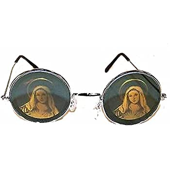853afe57f3 Round Virgin Mary Guadalupe Religious Hologram 3d Mirror Sunglasses