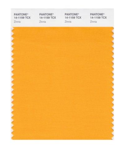 PANTONE SMART 14-1159X Color Swatch Card, Zinnia (Zinnia Fabric)