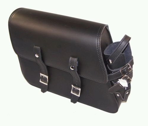 - Motorcycle Leather solo bag for harley davidson sportster Older Models with Metal Bottle