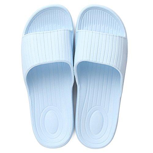 Zapatillas bañera remolque de interior slip verano indoor resbaladizo Luz palabra zapatillas sandalfing DogHaccd baño macho Par piso azul d7Pwdz