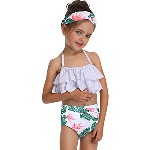Daughter Print Sexy Two Piece Swimsuit Matching Swimsuit ()