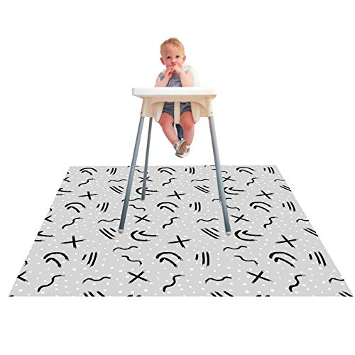 Kids Baby Highchair High Chair Floor Splash Spill Splat Mat Anti Slip