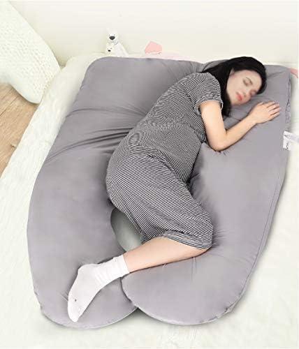 grau Hometex Schwangerschaftskissen mit kostenlosem Bezug 2,7 m Case Only U-f/örmig