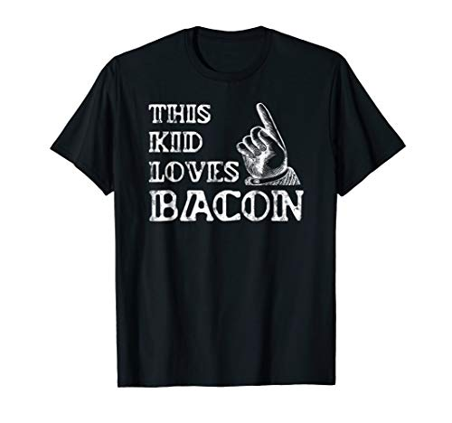 Mens Bacon Gifts for Kids Shirt-Bacon Lovers: Bacon Gifts Funny T Medium Black