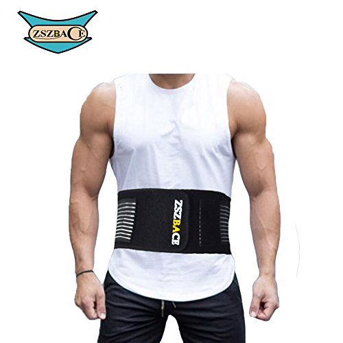 Back Support Belt, Lumbar Support Belt Dual Adjustable Straps, Breathable Mesh Panels, Helps Relieve Lower Back Pain, Scoliosis, Herniated Disc, Lifting, Sciatica for Men and Women (S/M)