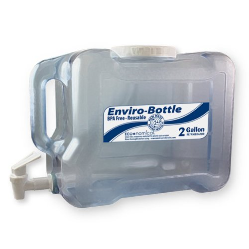 New Wave Enviro BpA Free 2 Gallon Refrigerator Bottle with Spigot