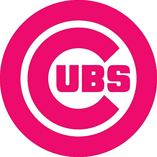 NBFU DECALS MLB Chicago Cubs Logo (Pink) (Set of 2) Premium Waterproof Vinyl Decal Stickers for Laptop Phone Accessory Helmet CAR Window Bumper Mug Tuber Cup Door Wall Decoration ()