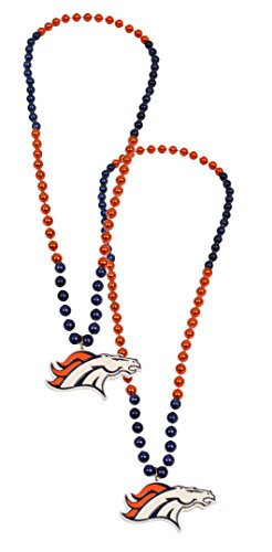 [Official National Football League Fan Shop Authentic NFL Team Party Mardi Gras Custom Tailgate Beads 2-pack (Denver Broncos)] (Denver Halloween Costume Ball Photos)