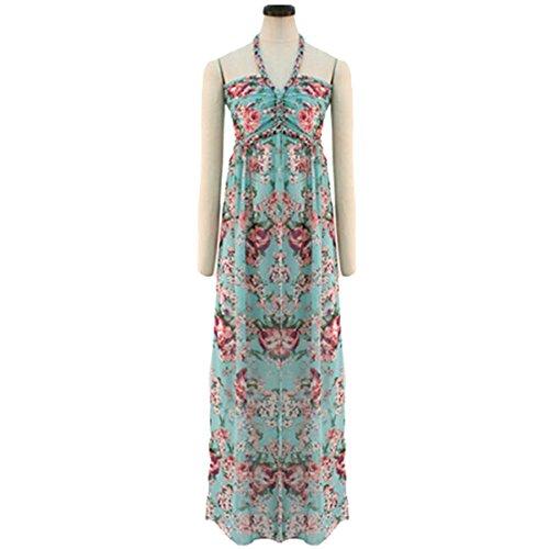 Qiyun 1077S0349 - Vestido para mujer Lake Blue