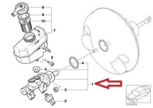 Amazon Com Bmw Brake Master Cylinder E46 E85 E86 34 33 6 785 666