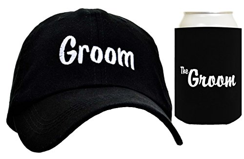 Groom Matching Hat Cap Can Coolie Wedding Gift Set Bundle -
