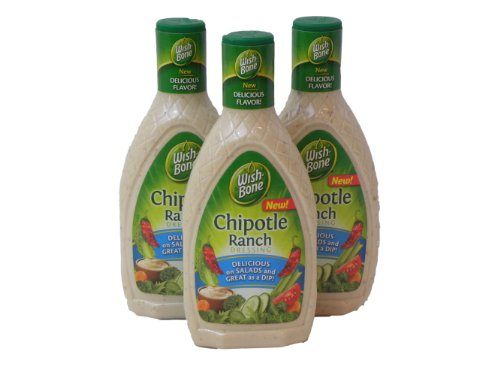 Chipotle Ranch Dressing - Wish-Bone, Chipotle Ranch Salad Dressing, 16oz Bottle (Pack of 3)