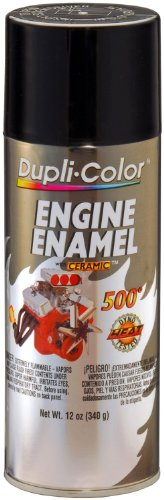 Dupli-Color EDE161307 Ceramic Gloss Black Engine Paint - 12 oz.
