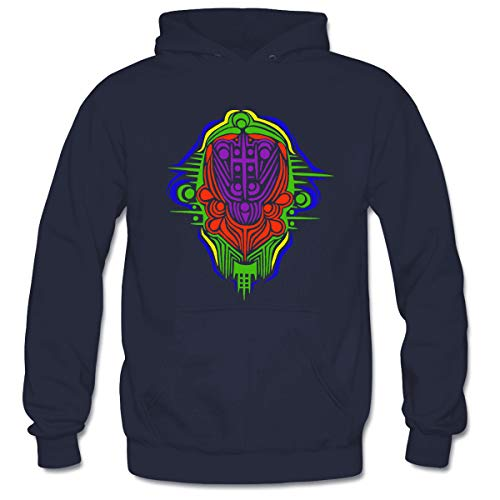 Men's Alien Empress Hooded Sweatshirt Funny Printed Pullover Hoodies Classic Long Sleeve T Shirt Tops L Navy