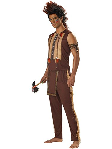 [Noble Indian Warrior Adult Costume] (Male Indian Costumes)