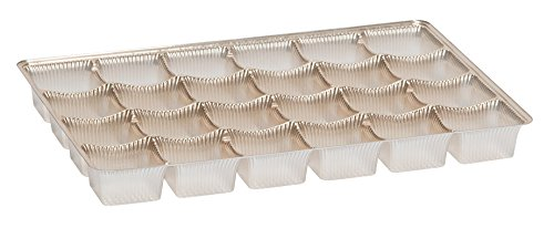 Gold Candy Trays, 24 piece 4 Row - Case of 500