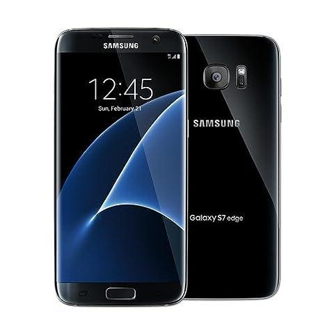 Samsung Galaxy S7 Edge Dual Sim Factory Unlocked Phone 32 GB - Internationally Sourced (Middle East/Africa/Asia) Version G935FD- Black (Samsung Galaxy Phone 7inch)