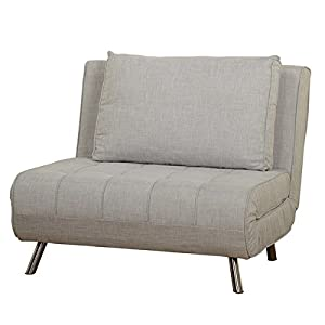 Cozy Armless Loveseat Futon/Chair Bed