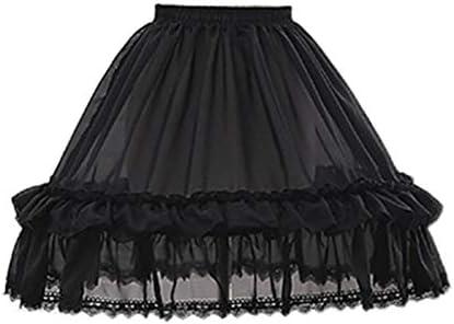 Chiic Falda de Tul Blanco de Encaje Floral Lolita Falda para Mujer ...