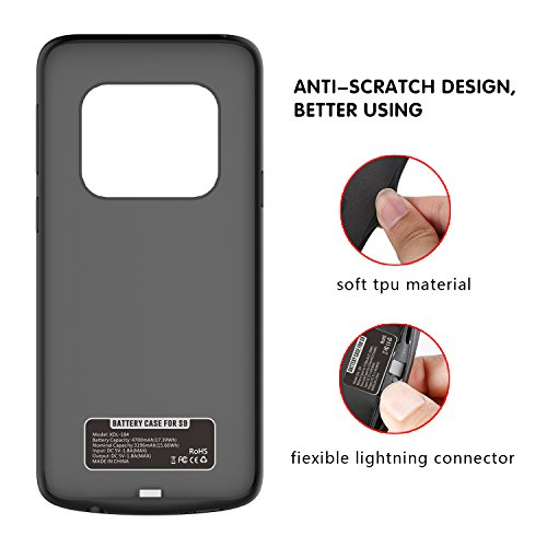 Samsung Galaxy S9 Plus Battery Case Portable External Charging Case 5200mAh Slim Shockproof Case Power Bank Protective Extended Battery Juice Pack Backup Rechargeable Charger Cover for Galaxy S9 Plus