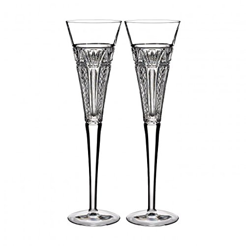 (Waterford Crystal 2015 Times Square Clear Toasting Flutes - Set of 2)