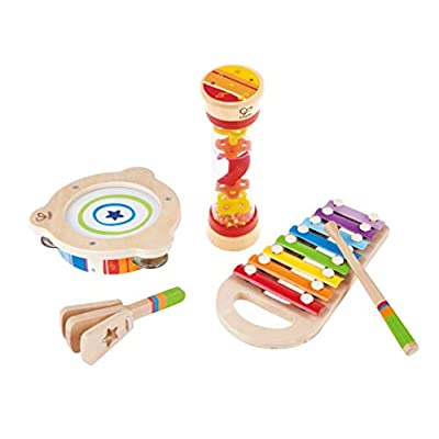 Hape Toddler Beat Box Set, Wooden Music Toy Set E8148: Toys & Games