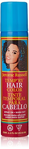 jerome russell Temporary Spray, Dark Brown -