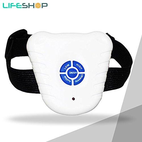 LifeShop UltraMask+ Ultrasonic Pet Dog Anti-Bark Collar With Free Extra Leash