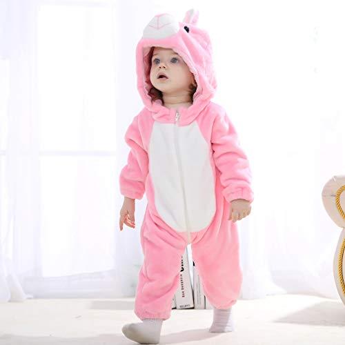 Michley Bambini Pagliaccetti Unisex neonata con Cappuccioanimali di Flanella per 0-3Anni 5