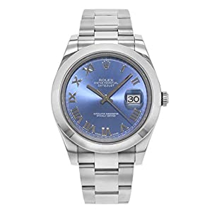 Best Epic Trends 41zQiofsesL._SS300_ Rolex New Datejust II 116300 41mm Steel Blue 2017 Box/Paper/5YrWarranty #RL51