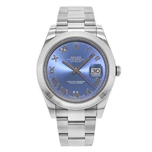 (NEW Rolex Datejust II 41MM Stainless Steel Blue Dial Roman Oyster Mens watch 116300 BLRO)