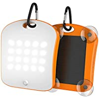 Solar Charger 6000mah Portable Power Bank with Emergency Led Torch 20LED lights and 2 USB 2.1A Charger for Smartphones Tablets and outdoor camping(orange)