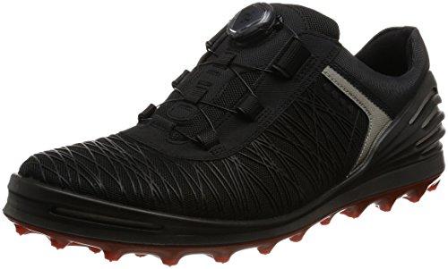 ECCO Men's CAGE PRO BOA Golf Shoe, Black, 12 M US