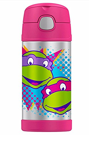 Thermos Funtainer 12 0unce Bottle, Teenage Mutant Ninja Turtle, Hot Pink -