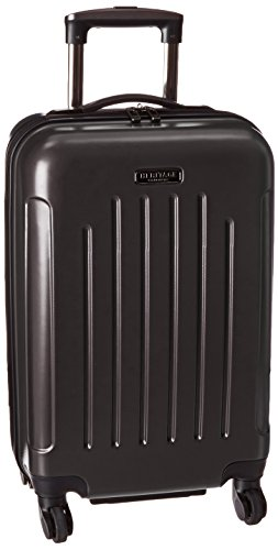 Upright Roller Luggage (Heritage 20 Inch ABS 4-Wheel Upright Carry-On, Black, One Size)