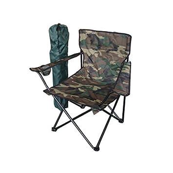MM Exclusiv Silla Plegable de Pesca o Camping, Camuflaje ...