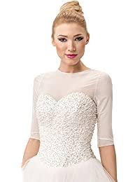 Bridal Tulle Bolero Shrug Dress T-Shirt Wedding Jacket