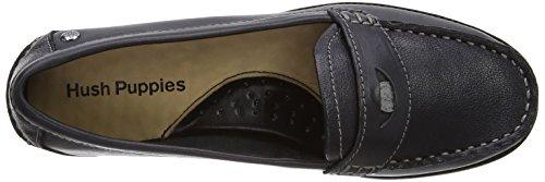 Hush Puppies Iris Sloan - Zapatos sin cordones de cuero mujer Black Leather
