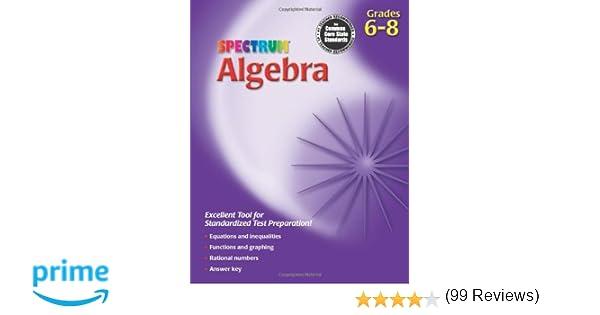 Counting Number worksheets grade 7 math probability worksheets : Spectrum Algebra Workbook, Grades 6-8: Spectrum (COR ...