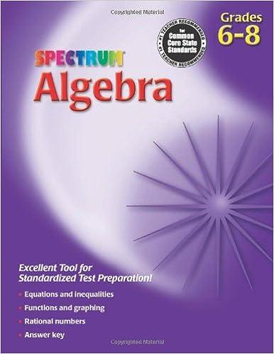 Spectrum Algebra Workbook, Grades 6-8: Spectrum (COR ...