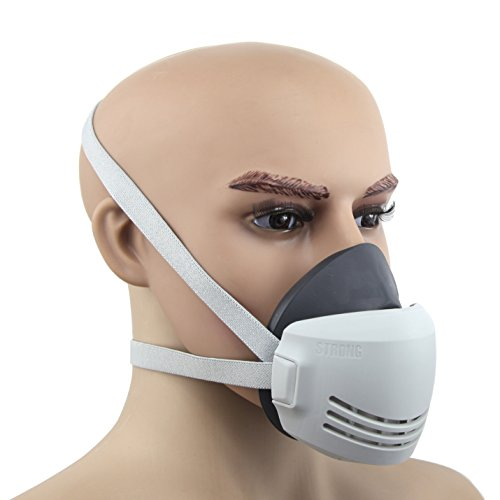 Owfeel-Silicone-Half-Face-Dust-Respirator-Mask-With-Adjustable-Strap-And-20-Pcs-Repaceable-Filter-Cotton