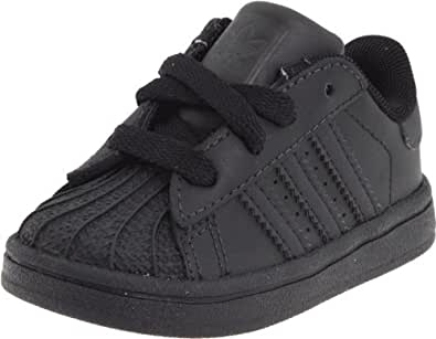 adidas Originals Superstar 2 Sneaker (Infant),Black/Black,2 M US Infant